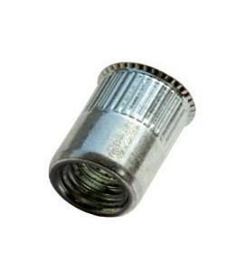 Заклепка M8*15,5 мм из алюминия с внутренней резьбой, уменьшенный бортик, с насечкой