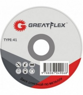 Круг отрезной по металлу Greatflex T41 125x1,6x22,2 мм