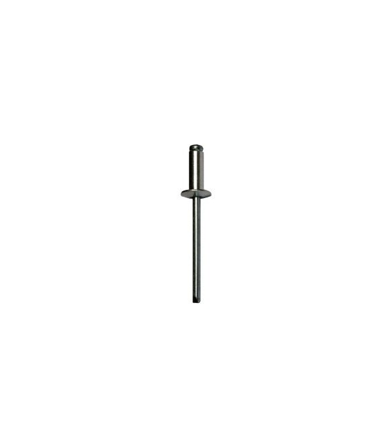 Заклепка вытяжная 5*10 мм со стандартным бортиком (алюминий/сталь)