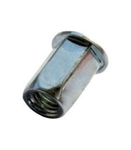 Заклепка M10*22 мм из стали с внутренней резьбой, цилиндрический бортик, шестигранная