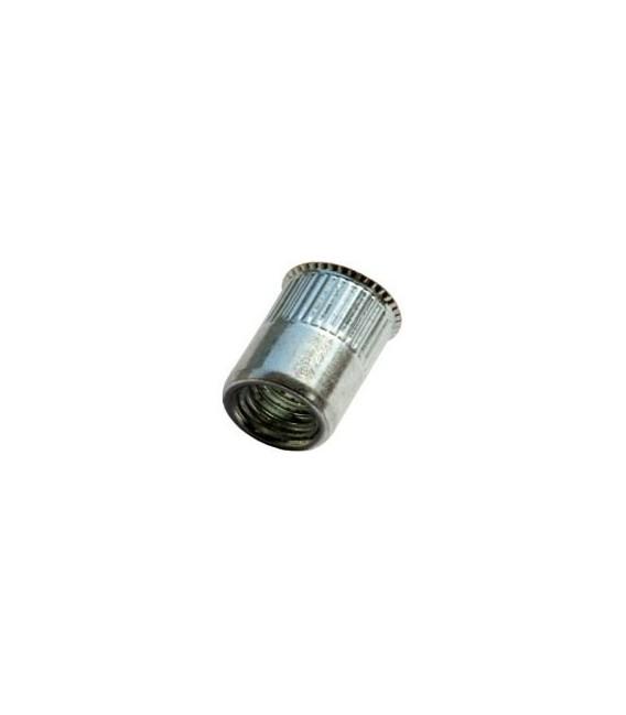 Заклепка M6*14 мм из стали с внутренней резьбой, уменьшенный бортик, с насечкой