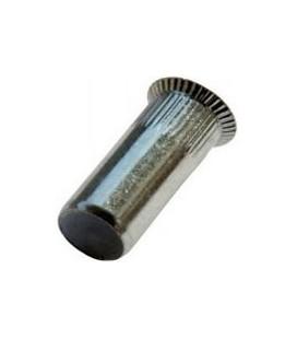 Заклепка M10*36 мм из стали с внутренней резьбой, потайной бортик, закрытая, с насечкой