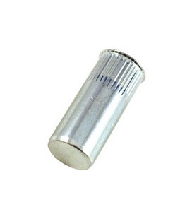 Заклепка резьбовая закрытая с маленьким бортиком и насечкой из стали M8*25,5 мм