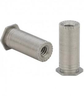 Втулка запрессовочная резьбовая для заземления печатных плат М3