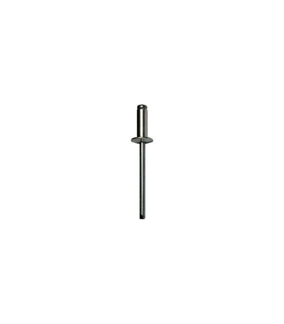 Заклепка вытяжная 6*12 мм со стандартным бортиком (алюминий/сталь)