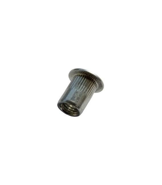 Заклепка M12*23 мм алюминиевая с внутренней резьбой, цилиндрический бортик, с насечкой
