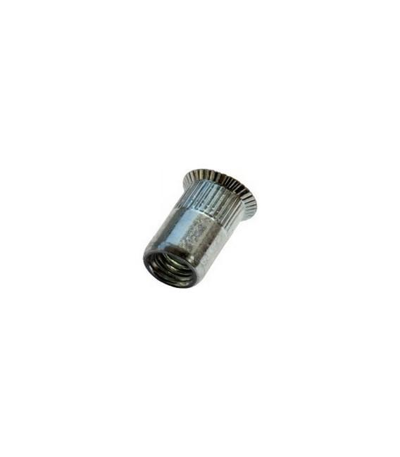 Заклепка M8*19 мм из стали с внутренней резьбой, потайной бортик, с насечкой