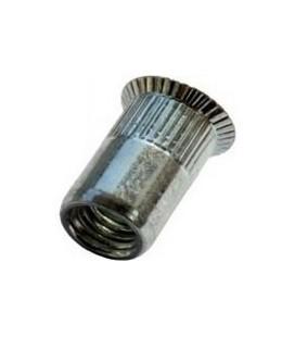 Заклепка M8*19 мм алюминиевая с внутренней резьбой, потайной бортик, с насечкой